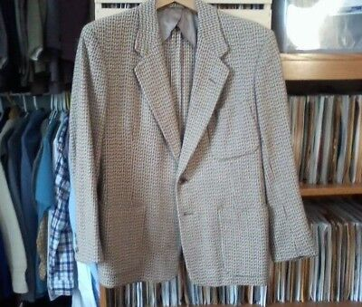 "1950s ""Fashion Tailored Clothes"" beige wool two-button jacket/blazer, 38 short"