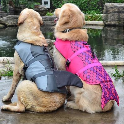 Pet Dog Life Swimming Jacket Shark Mermaid Float Vest Buoyancy Aid Vest Costume