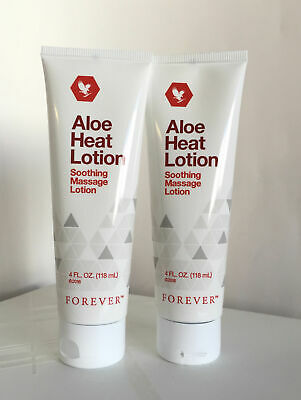 2 New tubes Forever Living Aloe Heat Lotion,4 fl.oz - great for soothing massage