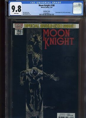 Moon Knight #188 CGC 9.8 lenticular cover MAX BEMIS Say Anything Bil Sienkiewicz