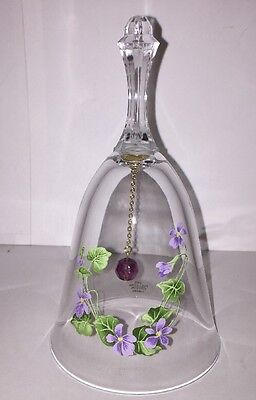 "Vintage Glass Bell, Avon, 24% Full Lead Crystal,6"", Great Condition"
