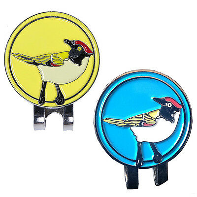Alloy Hat Clip with Magnetic Golf Ball Marker Magpie Shapes Different Color Pro