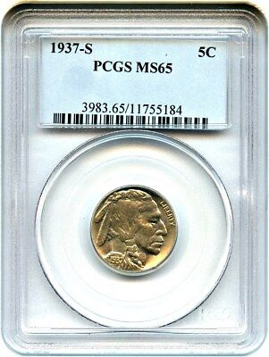 1937-S 5c PCGS MS65 - Buffalo Nickel