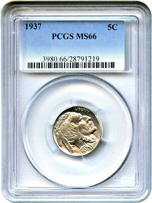 1937 5c PCGS MS66 - Buffalo Nickel - Gem Type Coin