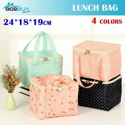 Large Portable Insulated Thermal Cooler Lunch Box Carry Picnic Case Storage Bag