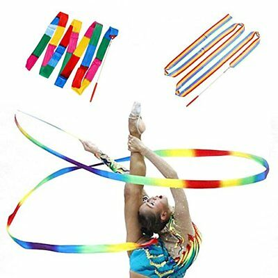 4m Rhythmic Gymnastics Dance Ribbons for Gym Exercise Party Events Decoration