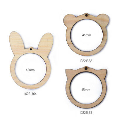 45mm Wooden Animal Cross Stitch Frame Embroidery Hoop add your own design 1pcs
