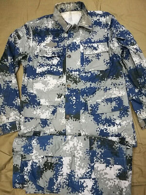 Used 07's China PLA Air Force & Airborne Force Digital Camo Jacket、Pants,Winter
