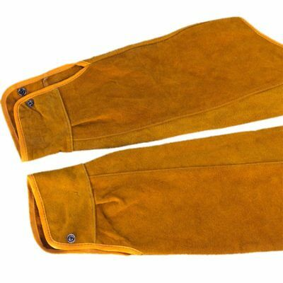 2pcs 21.6 inch Imitation Leather Welding Sleeves Protective Heat Arm Sleeve O4M3