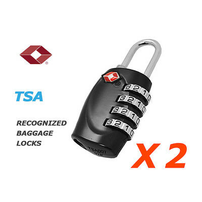 2x TSA 4 Digit Combination Travel Luggage Padlock Suitcase Lock