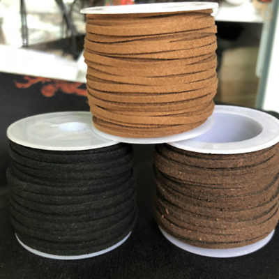 10 yards suede leather strings 3mm with roll spool Jewelry Making Thread Cords