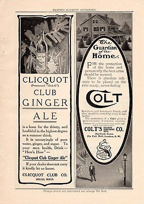 1908 Colt Revolver & Pistol Ad-The Guardian Of The Home