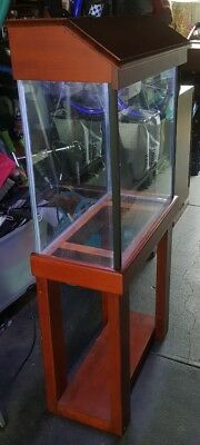 Aquarium fish tank solid hardwood frame