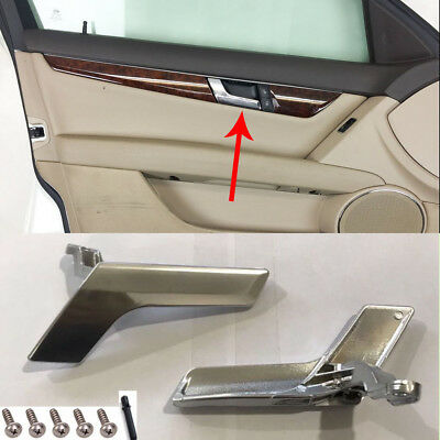 Mercedes W204 Interior Door Handle Chrome Plated Left Side Uk Passenger Side