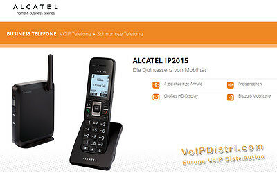 Alcatel Temporis IP2015 IP DECT Wireless Telephone with Power Grid,Poe,HD Sound