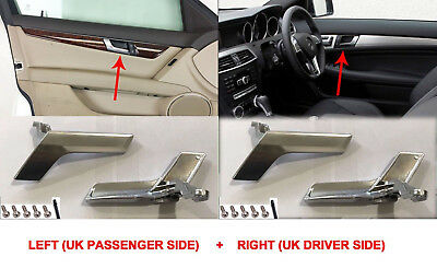 Mercedes W204 Interior Door Handle Chrome Plated Left And Right Side