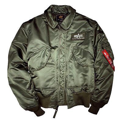 ALPHA INDUSTRIES CWU 45 Jacket,Bomber Jacket,Flight Jacket, Green, Green, 100102