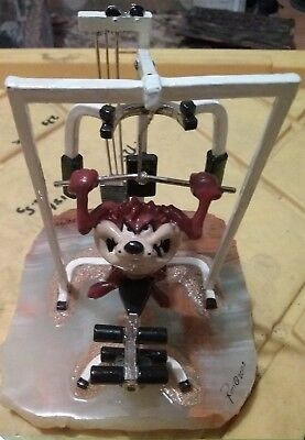 limited edition Tasmanian devil on gym machine number 26/950 possibly by Ron lee