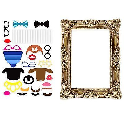 Photo Both 24pcs Posing Props + Fake Frame Moustache LF0024 for Birthday Party