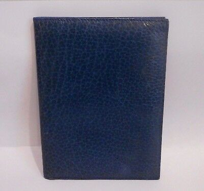 VTG Charter Club,Steel Blue Genuine Leather,Passport Travel Wallet,Made in Spain