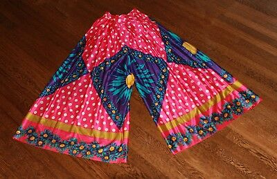 """NWT VTG 70s 24"""" High Waisted Wide Leg Palazzo Pants Gypsy Retro Hippie DEADSTOCK"""