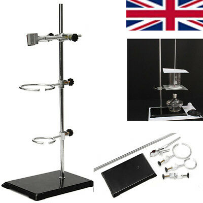 UK 50CM High Lab Stand Support Lab Clamp Condenser Flask Alcohol Bottle Cilp Set