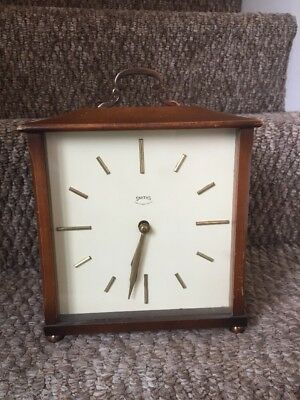 Antique British Carriage Smiths Clock SPARE/REPAIR (WITH KEY)