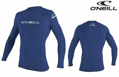 O'Neill Rash Guard Lycra Skins BASIC Longsleeve L/S UV-Shirt pacific blau