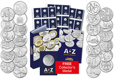 "Royal Mint Complete Certified ""Early Strike"" Uncirculated 10p A to Z Full Set"