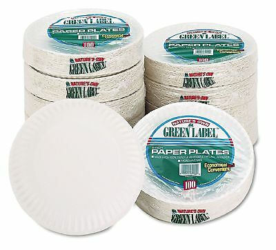 "9"" White Round Paper Plates, Lightweight (1,000 ct.) Party Dinnerware Tableware"