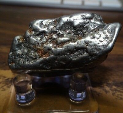 Huge 64 Gm Campo Del Cielo Meteorite Crystal ! Great Piece Large Size W/ Stand