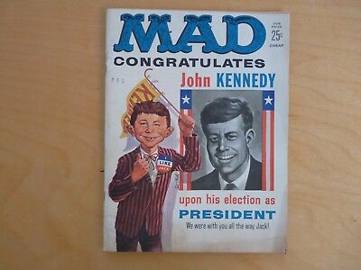 Mad no 60 1961 Congratulates Nixon / Kennedy