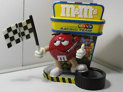 """M&M RED """" Flag Racing Team"""" Candy Dispenser"""