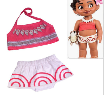 US STOCK  Girls Toddlers Moana Swimsuit Swimwear 2pc Set Bathing suit Bikini O45