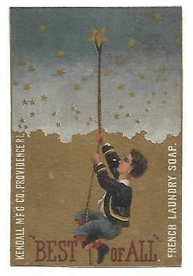 Victorian Trade Card Kendall Mfg Co Providence Ri.  French Soap-Stars