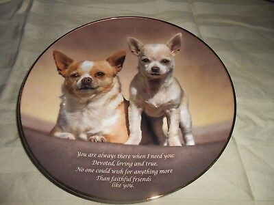 "Danbury Mint ""Faithful Friend"" Cherished Chihuahuas Plate No. C5696"
