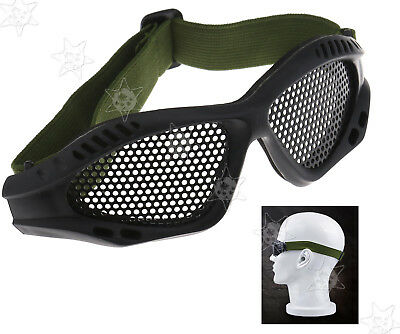 Tactical Military Camouflage Protection Metal Mesh Glasses Goggles Airsoft Mask