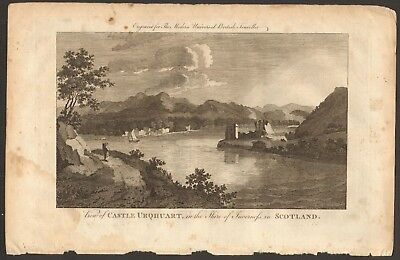 1779 ca ANTIQUE PRINT- INVERNESS - VIEW OF CASTLE URQHUART