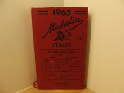 Guide rouge Michelin Italie 1965