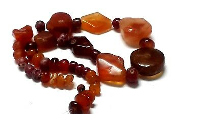 Ancient beads.40 ancient Egyptian agate carnelian beads several size.