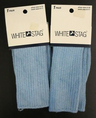 Lot of 2 Pairs of Vintage White Stag Socks in Chambray NWT