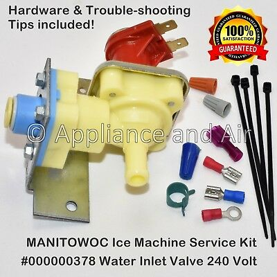 000000378 Manitowoc Water Inlet Valve Kit 240 Volt - SHIPS TODAY!