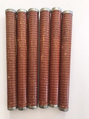 Lot of 6 Antique Textile Mill Bobbin Spindle Spool AMERICAN PAPER TUBE CO