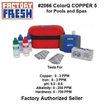 #2066 ColorQ COPPER Pool/Spa 5  Digital Water Analyzer, Complete