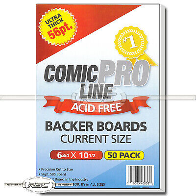 "50 - Comic Pro Line Current 56pt Premium Backer Boards - 6-3/4"" x 10-1/2"""