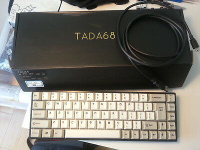 TADA 68 CUSTOM Built Mechanical Keyboard UK QWERTY Gateron Brown PBT Keycaps