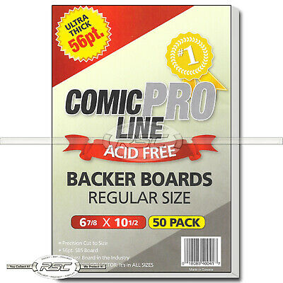 "50 - Comic Pro Line Regular Size 56pt Premium Backer Boards - 6-7/8"" x 10-1/2"""