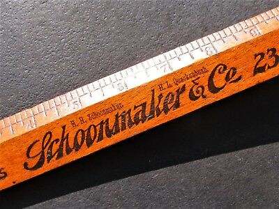 Antique SCHOONMAKER & Co Department Store Paterson NJ Advertising Wood Ruler