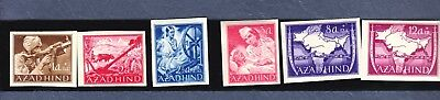 Stamps India Azad Hind German Invasion 1943 WWI Imperf MNH