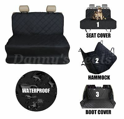 Quilted Car Rear Back Pet Dog Bed Seat Cover For Kia Ceed SW Estate 2007 - 2012